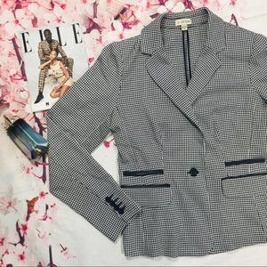 Guess - Houndstooth Fitted Blazer